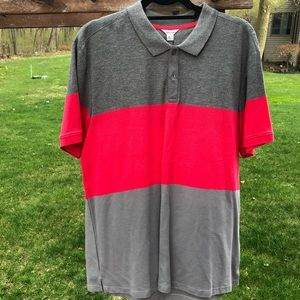 NWT Calvin Klein pink and grey Polo